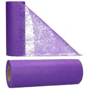 AmaCasa Chemin de Table Non tissé Courroie de Table Ruban de Table Non tissé Mariage Communion 23cm / 20m (Violet) (AmaCasa, neuf)