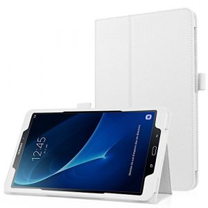 HBorna Galaxy Tab A 10.1 (A6) Coque Etui Housse, Slim Smart Cover Housse de Pochette Protection pour Samsung Galaxy Tab A 10,1 Pouces T580N / T585N (2016 Version) (A6) Tablette, Blanc (Mcall-EU, neuf)