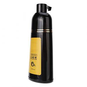 400 ml de teinture pour les cheveux shampooing de coloration noire pour rendre vos cheveux propres et noirs en même temps, shampooing pour cheveux noirs doux et ne pas blesser les cheveux lors(Noir) (Duevin89, neuf)