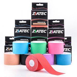 Ziatec pro bande de kinésiologie physiothérapie-tape - kinesiologie-tape - Tape de Kiensiologytistant, couleur:2 x rose (SFH TRADING, neuf)