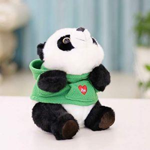 Panda Géant Vêtements Poupée, Jouet En Peluche Enfants Poupée Poupée Noir Et Blanc, Cadeau De Poupée De Chiffon 22 Cm Robe Panda Verte (lizhaowei531045832, neuf)
