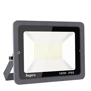 bapro 100W Projecteur Led,Eclairage Extérieur LED,IP65 Spot Led Extérieur Blanc Froid (6000K). Projecteur à LED, Lumières d'inondation.pour éclairage public, garage, jardin[Classe énergétique A++] (Royana-EU, neuf)