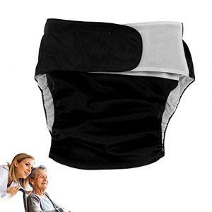 Couches adultes de 4 couleurs adultes couches réutilisables couche lavable réglable grande pour pour les femmes, hommes bariatrique, personnes âgées, patients incontinence(Black404) (salmueu, neuf)