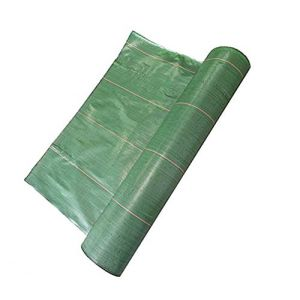 Toile Bache de paillage tissée Anti-Mauvaises Herbes Largeur 2,2m Longueur 10m / 130g/m2 (www.cascades-inox, neuf)