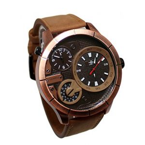 Montre Homme Michael John Gros Cadran Double Affichage Only The Brave (MONTRE-STYLE, neuf)