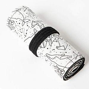 Sac a Crayon de Toile, BETOY 72 Trous Pochette pour Crayons Rouleaux de Crayon Trousse à Crayons en Toile Plumier pour le Croquis Et Le Dessin de Couleur, Sac Multi-Usages pour 72 Crayons (BETOY, neuf)