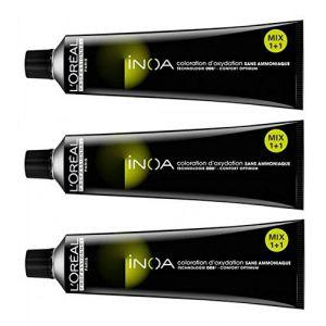 L'Oréal inoa 7Blond Intense 3x 60ml Couleur des cheveux sans ammoniaque LP Coloration (PELUSHOP, neuf)