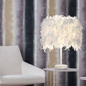 STOEX Lampe de table en plumes Blanc Lampes de Chevet Abat-jour + Câbles (STOEX, neuf)