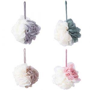 Mydee Fleurs de bain - Fleur de Douche Lot de 4 Puff de Bain Éponge de Douche (A) (Mydee, neuf)