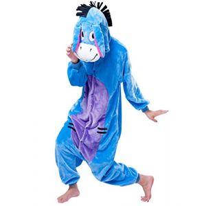 mauea Pyjama Animaux Cosplay Halloween Costume Déguisement Combinaison Vêtement de Nuit Adulte Femme Homme Unisexe (âne,XL) (Mauea Shop, neuf)