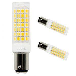 SEAMI B15D Ampoule LED 6W Baïonnette Double Contact 90-265V Blanc Chaud 3000K Equivalent à Ampoule Halogène 65W 690 Lumens pour Lampes de Machine à Coudre Éclairage (2 pièces) (seami, neuf)