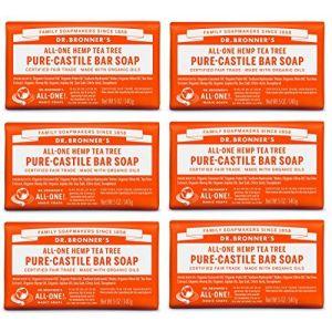 Savons de Dr. Bronner pure magie-savon de Castille, All-One chanvre arbre à thé, bars 5 onces (pack de 6) (Ponera, neuf)