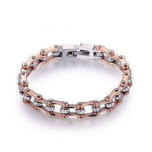 Bracelet Poignet Femme Bracelet en cristal de chaîne de moto de haute qualité pour des bracelets de chaîne de motocycliste d'acier inoxydable des femmes (ASEROP, neuf)