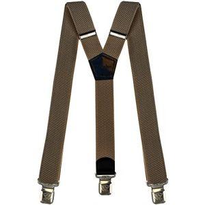 Bretelles Y entièrement réglable pour Homme Femme 4 cm avec 3 clips élastique Solide Casual Pantalon Jeans Différentes couleurs, Beige Clair, Lange (Decalen France, neuf)