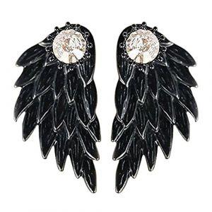 Bluelans Mode Femme Strass Ailes d'ange boucles d'oreilles fête cadeau Bijoux (Broadfashion, neuf)