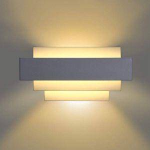 Albrillo Applique Murale LED Intérieur - Lèche Mur Moderne Design Éclairage Décoratif avec 4 Couches pour Chambre Escalier Salon Bureau Hôtel Restaurant Bar Couloir (Henya, neuf)