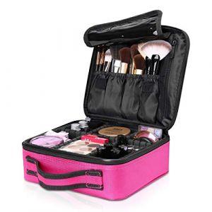 NICOLE & DORIS Trousse à maquillage Maquillage Cas Sac de maquillage Sac de rangement Trousse de voyage malette maquillage Rose (NICOLE&DORIS-FR, neuf)