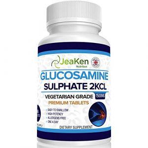 JeaKen - SULFATE DE GLUCOSAMINE 2KCl 1500mg | 365 Comprimés (Approvisionnement pour 1 An) | Végétariens et Végétaliens | Complement Alimentaire Anti Arthrose et Articulation Douloureuse (JeaKen Ltd, neuf)
