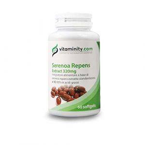 Vitaminity - Serenoa Repens - Saw Palmetto - Complément alimentaire contenant 90% à 95% d'extrait lipophile standard de Serenoa Repens (Wilcosrl, neuf)