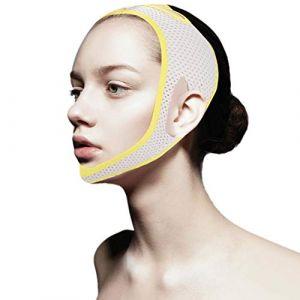 Masque V Line, Visage V Ceinture Lift V Visage Visage Bandage Visage Pinceau Cheville Minceur Minceur Minceur Masque Cheek Lift Menton Respirant (# 2) (runatyo, neuf)