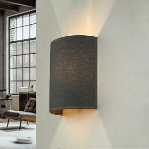 Tissu Applique murale de couleur gris Loft moderne élégant Applique murale ALICE (Licht-Erlebnisse, neuf)