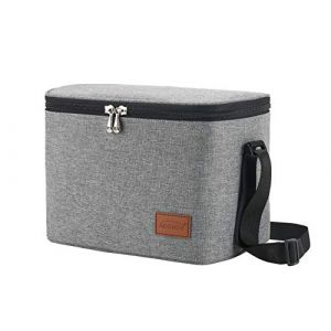 Aosbos Sac Isotherme Homme Portable Lunch Bag Business Glacière Souple Gris (S-MART LIFE, neuf)