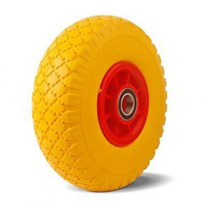YAOBLUESEA pour roues en caoutchouc plein Anti-crevaison Roues Roues en polyuréthane 3.00-4 Brouette roue en polyuréthane de 260 mm (yaobluesea, neuf)