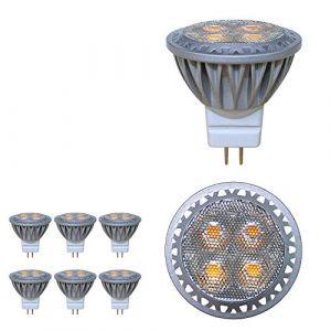 Baoming ampoule LED MR11 GU4 spot 3 W 12 volts Super Bright égal à ampoule halogène 35 W 280LM 30 ° Angle de faisceau 6000K Blanc froid Lot de 6 unités (BAOMING, neuf)