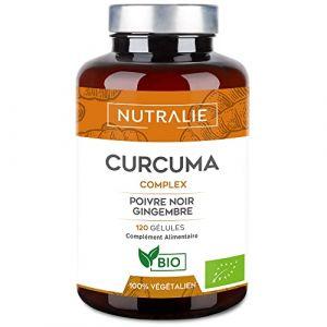 NUTRALIE   Curcuma BIO 100% naturel   Association optimale de Curcuma et poivre noir   120 gélules végétales de haute absorption composées de Curcumine, Gingembre et Pipérine   Curcuma Complex (AUDENTIS, neuf)
