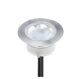 1 Spot Encastrable LED pour Terrasse,Mini Spot Encastré en DC12V IP67 Etanche Ø60mm Acier Inoxydable Exterieur luminaire,Eclairage pour Jardin,Couloir (RGB) (CHENXU, neuf)