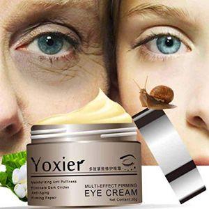 Crème yeux d'escargot, Crème de réparation d'extrait d'escargot, KISSION Crème raffermissante anti-âge pour hydratant anti-âge réduisant les cernes, les ridules, les poches (Lucktar, neuf)