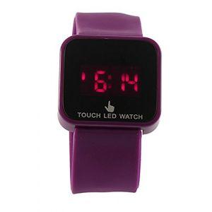 SODIAL(R)Unisexe Colore Ecran Tactile Numerique LED Date et Heure Montre-bracelet Violet (HAPPYShopping Store, neuf)