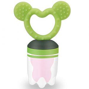 ZOSHING Silicone d'aliments frais pour nourrissons, Grignoteuse de fruits frais pour bébé, bébés, Jouet de dentition infantile(Vert) (zoshing, neuf)