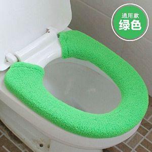 MZP De plus des toilettes de velours épais fixe type commun pot argent pièce fixe le tapis de pot siège de toilette 2 équipée , green (ZhongPing Miao, neuf)