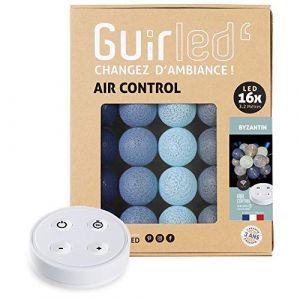 Guirlande lumineuse boules coton LED USB - Télécommande sans fil - Chargeur double USB 2A inclus - 4 intensités - 16 boules - Byzantin (Lighting Arena, neuf)
