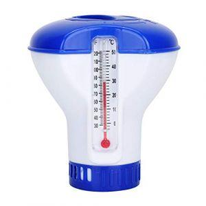 Jeffergarden Chlore Piscine Galet Flottant Thermomètre de Chimique Flottant Distributeur de Chlore de Piscine Chimique avec Support de Tablette thermomètre ... (Blurte, neuf)