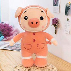 Peluche cochon mignon cochon cochon lapin poupée chiffon poupée oreiller de couchage enfant confort chiffon poupée fille-Cochon rose_45cm (lizhaowei531045832, neuf)