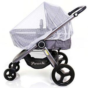 Moustiquaire pour poussettes, porte-bébés, sièges d'auto, berceaux. Filet d'insertion universel durable pour bébé Kyerivs (Jacquard) (MK.LeAp, neuf)