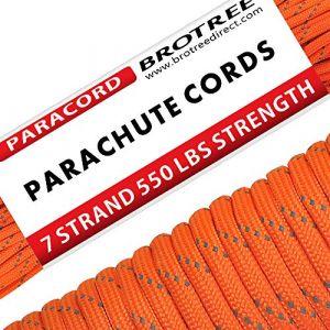 Brotree Paracorde 550 Corde Parachute 7 Brins en Nylon Corde de Survie Type III Spécification Militaire ?Standard, Réfléchissante? (BrotreeDirect, neuf)