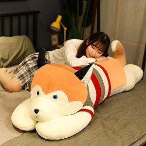 Peluche jouet husky oreiller de sommeil chiffon poupée femelle mignon poupée cadeau d'anniversaire-Husky-Golden_85cm (lizhaowei531045832, neuf)