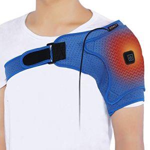 Support d'épaule, attelle d'épaule électrique, châle de chauffage bleu, poinçons respirant, grande taille pour femme (qiter, neuf)