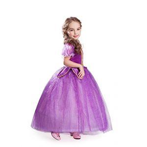 ELSA & ANNA® Filles Reine des Neiges Princesse Partie Costumée Déguisements Robe de Soirée FR-FBA-RAP1 (7-8 Ans, FR-RAP1) (UK1STCHOICE-ZONE, neuf)
