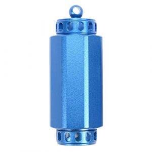 Toygogo Porte-clés Pilulier Vide Mini-bouteille en Alliage D'aluminium, étanche, Pour Camping, Voyage - L bleu (Amateur players, neuf)