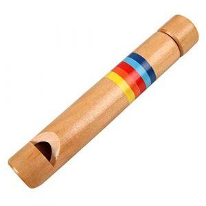 Barley33 Enfants Flûte En Bois Sifflet Instrument de Musique Jouets Éducatifs pour Enfants En Bas Âge Apprentissage Musique Jouet (Barley33, neuf)