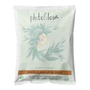 PHITOFILOS - Mélange de Brou de Noix - Traitement 100% Végétal pour Cheveux avec Tons Bruns - Avec Indigofera et Lawsonia - 100 gr (Natural Kind, neuf)