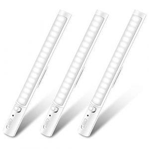 Lumière de Placard, Lampes 21 LEDs, Sans Fil, Aimanté, Détecteur de Mouvement, 3 Modes d'Éclairage, Portable, Baladeuse de Secours, Veilleuse Enfant [Lot de 3] (Nubeln, neuf)