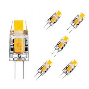 BOGAO G4 COB Ampoule LED, AC / DC 12V, 2W, 120-140LM, blanc chaud (3000K) Equivalent à lampes de 15W halogènes, Non-dimmablAmpoule de projecteur en cristal,5 pcs (BOGAO, neuf)