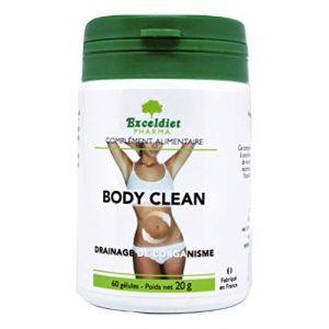 BODY CLEAN 60 GELULES - Colon cleanse - Détox minceur complète foie,colon et intestins de 6 Plantes Nettoyantes - Nettoie l' Organisme des Excès Alimentaires et d' Alcool. Exceldiet, la marque Verte. (EXCELDIET PHARMA, neuf)