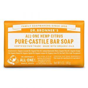 Dr Bronner's Pure-Castille Citrus Orange Savon 140 g (Eco.Natural.Products, neuf)