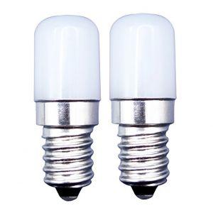 [2 Pièces] E14 Petite Ampoule LED 2W à Vis Remplacer 20W Halogène Abat-jour Lumière Blanche Froide 6000K 180lm-Chaleur Non Variable pour Réfrigérateur/Machine à Coudre/Machine à Fumer (MZMing, neuf)